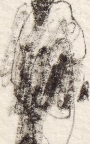 Blake Carter, 335 Pedestrians (Skull) (Detail 1), 2012