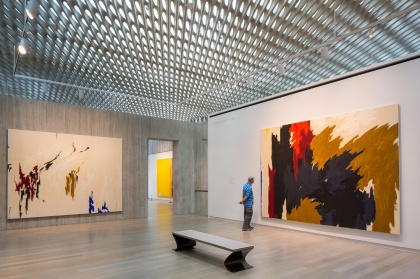 The final gallery in the Clyfford Still Museum, Denver. PHOTO: JAMES FLORIO, COURTESY CS MUSEUM